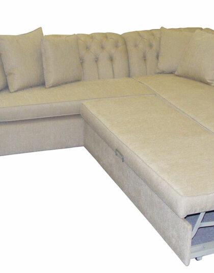 Hem gözünüze hitap eden hem yatak olup kullanacağınız yataklı chester köşe koltuk takımı sizler için son derece kullanışlı ve zarif bir ürün.