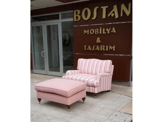 Ankara Mobilyası adına güzel bir örek Bostan mobilya tasarımı olarak klasik tekli koltuk ve kanepe adına güzel bir üründür.