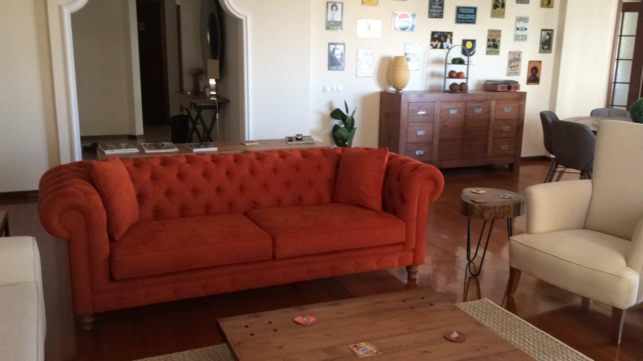 turuncu chester kanepe