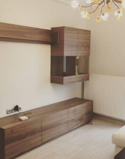 Ankara Modern Yemek Odası Ceviz Duvar Ünitesi