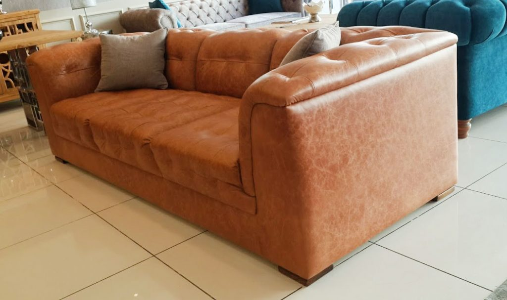 Hakiki deri modern kanepe